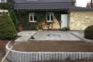 Granitkanten Beeteinfassung